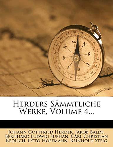 9781270824107: Herders Sämmtliche Werke, Volume 4... (German Edition)