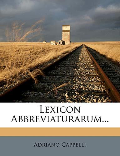 9781271759774: Lexicon Abbreviaturarum...