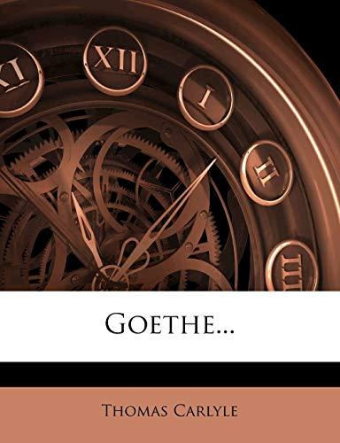 9781272075903: Goethe...