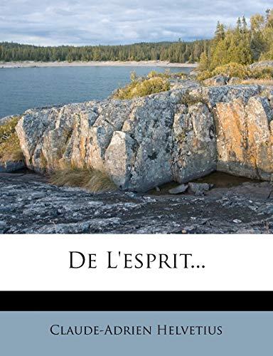 9781272152840: de L'Esprit...