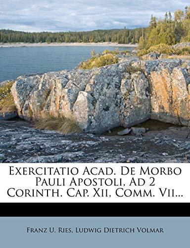 Exercitatio Acad. De Morbo Pauli Apostoli, Ad