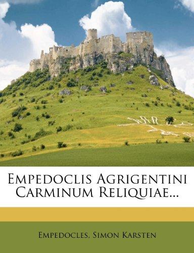 9781272185053: Empedoclis Agrigentini Carminum Reliquiae...
