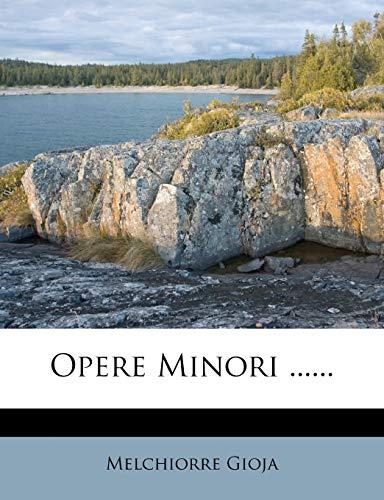 9781272490768: Opere Minori ...... (Italian Edition)