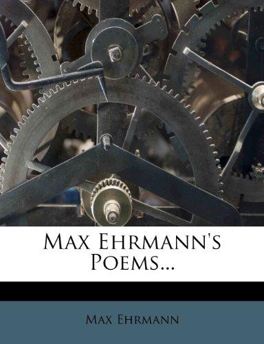 9781272705732: Max Ehrmann's Poems...