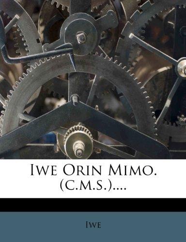 Iwe Orin Mimo. (c.m.s.). Iwe