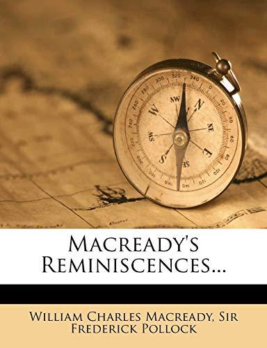 9781273089411: Macready's Reminiscences...