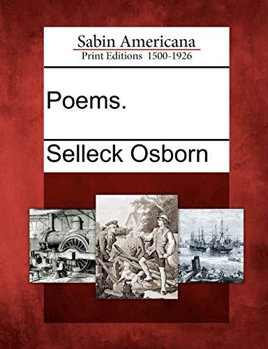 Poems.: Selleck Osborn