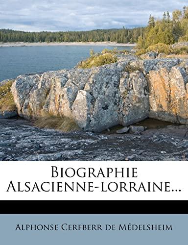 9781277590258: Biographie Alsacienne-lorraine... (French Edition)
