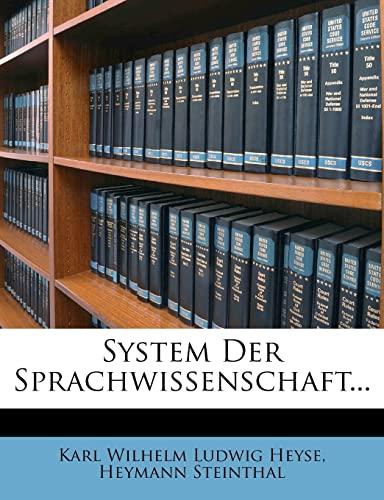9781278296999: System Der Sprachwissenschaft... (German Edition)