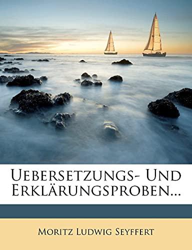 9781278561684 - Moritz Ludwig Seyffert: Uebersetzungs- Und Erkl Rungsproben. - Buch