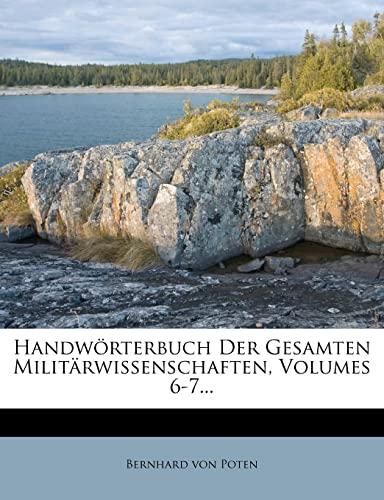 9781278717982: Handworterbuch Der Gesamten Militarwissenschaften.