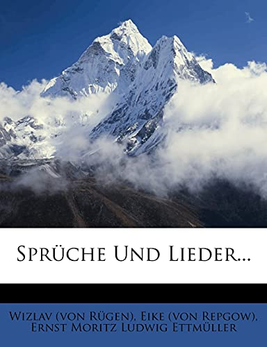 9781278925066: Sprüche Und Lieder...