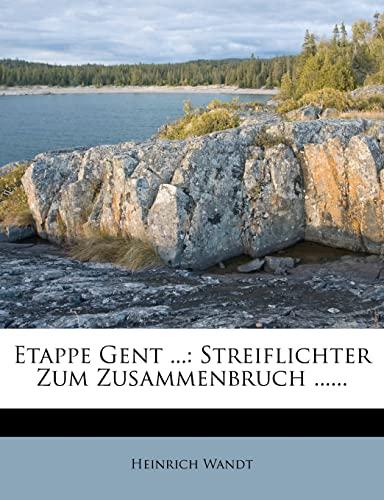 9781278970196: Etappe Gent von Heinrich Wandt. (German Edition)