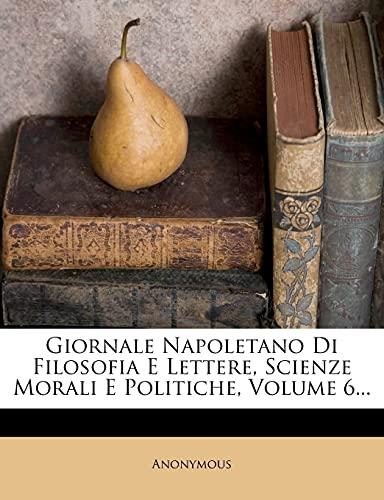 Giornale Napoletano Di Filosofia E Lettere, Scienze