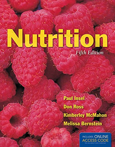 Nutrition 9781284021165 An Updated Version of an Essential Text for Nutrition Majors and Advanced Non-Majors Nutrition, Fifth Edition is a completely revised and updated text. The new edition is challenging, student-focused and provides the reader with the knowledge they need to make informed decisions about their overall nutrition and a healthy lifestyle. Central to Nutrition, Fifth Edition is its rigorous coverage of the science of nutrition, metabolism, and nutrition-related diseases. Practical content coupled with focused chapter learning objectives reinforce key concepts to improve retention and learning outcomes. An integrated pedagogy accommodates different learning styles to promote knowledge, behavior change and student comprehension of the material. The Fifth Edition has been updated to include a new spotlight on obesity, an updated chapter on metabolism as well as a revised chapter on energy balance and body composition. New Nutrition Science in Action scenarios present contemporary examples of the science behind nutrition. Important biological and physiological concepts such as emulsification, glucose regulation, digestion and absorption, fetal development, nutritional supplements, weight management and exercise are covered throughout the text and reinforced through updated tables and graphics. New to the Fifth Edition: - Spotlight on Obesity - Chapter Learning Objectives added to the beginning of each chapter - All New Nutrition Science in Action Features - Updated chapter pedagogy includes new definitions and statistics based on the 2010 Dietary Guidelines, USDA MyPlate, and Healthy People 2020 - Updated position statements reflect the new Academy of Nutrition and Dietetics - Revised and updated art gives the text a modern and current feel. Key Features: ·Learning Objectives map to chapter content ·Think About It questions at the beginning of each chapter present realistic nutrition-related situations and ask the students to consider how they would behave in ...