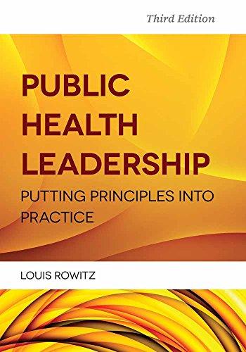 Public Health Leadership: Rowitz Louis