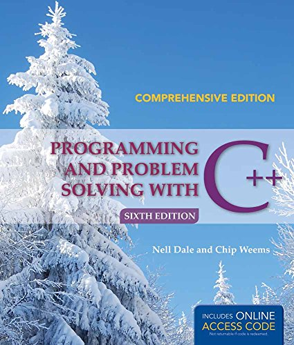 Programming And Problem Solving With C++: Comprehensive: Nell Dale, Chip