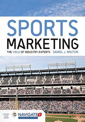 Sports Marketing 9781284034097 Each new print copy includes Navigate 2 Advantage Access that unlocks a comprehensive and interactive eBook, student practice activities and assessments, a full suite of instructor resources, and learning analytics reporting tools. The world of sports marketing can be both exciting and challenging when working with high-level endorsements, licensing agreements, and high profile clients. In Sports Marketing: The View of Industry Experts, readers get a behind the scenes look at industry leaders as they discuss how they achieved their position, what their daily schedules look like, and what interesting projects and challenges are currently upon them. Through these bios, readers will hear directly from some of the most influential and successful people in the business and learn firsthand about the different opportunities available within the wide field of sports marketing, as well as a look at the fundamentals of the positions described. Key Features: - Each chapter opens with an interview of a leading authority in the industry that provides a behind the scene look at the many opportunities available in sports marketing - Readers hear directly from some of the most influential and successful people in the business - Features a unique chapter on Sport Licensing and details the many layers of licensing and its importance in this industry - A robust pedagogy provides informative case studies, review questions and examples from the industry With Navigate 2, technology and content combine to expand the reach of your classroom. Whether you teach an online, hybrid, or traditional classroom-based course, Navigate 2 delivers unbeatable value. Experience Navigate 2 today at www.jblnavigate.com/2
