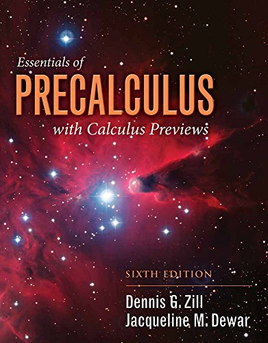 9781284056327: Essentials of Precalculus with Calculus Previews (Jones & Bartlett Learning Series in Mathematics)
