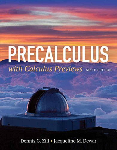 9781284077261: Precalculus with Calculus Previews