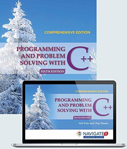 9781284079197: Programming and Problem Solving with C++: Comprehensive: Navigate 2 Advantage Access/Print Book Bundle