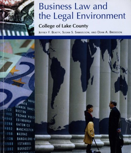 9781285008554: Business Law And The Legal Environment Clc Custom 2012Custom/Beatty