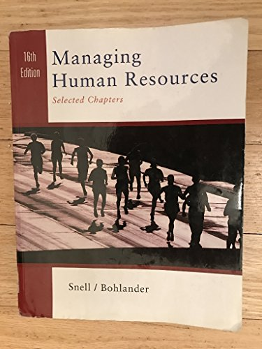 9781285009094: Managing Human Resources (Selected Chapters)