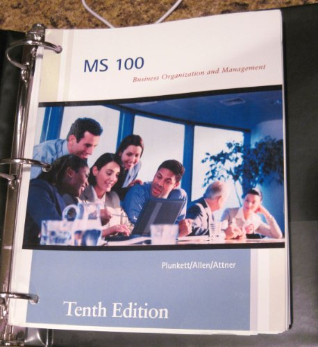 9781285009148: MS 100 Business Organization and Management