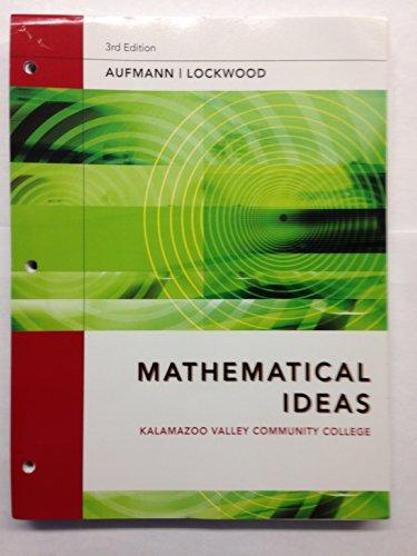 9781285024752: Mathematical Ideas [MATH 114]