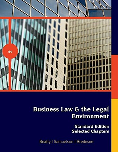 9781285025957: Business Law & the Legal Environment Standard Edition, Selected Chapters