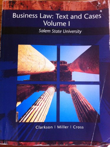 9781285025964: Business Law: Text and Cases Volume 1 Salem State University
