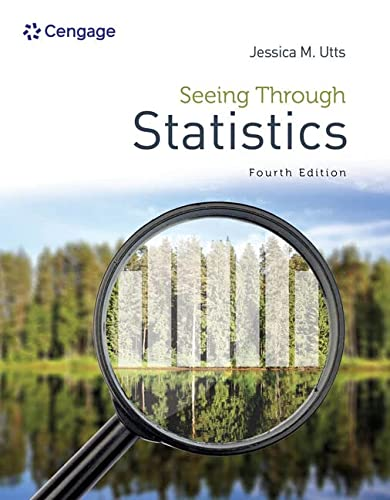 Seeing Through Statistics (1285050886) by Jessica M. Utts