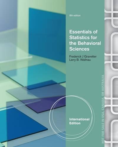 9781285051246: Essentials of Statistics for the Behavioral Sciences