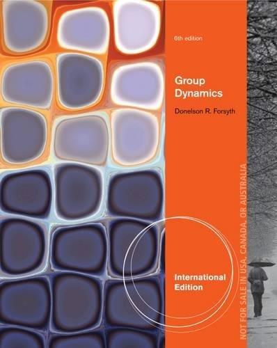9781285051444: Group Dynamics, International Edition