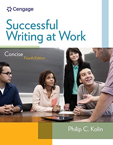 Successful Writing at Work: Concise Edition: Kolin, Philip C.