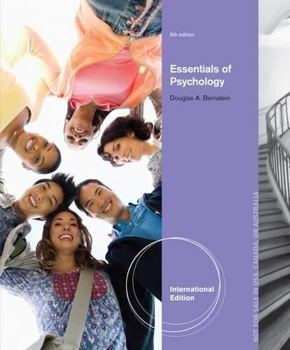 9781285055831: Essentials of Psychology