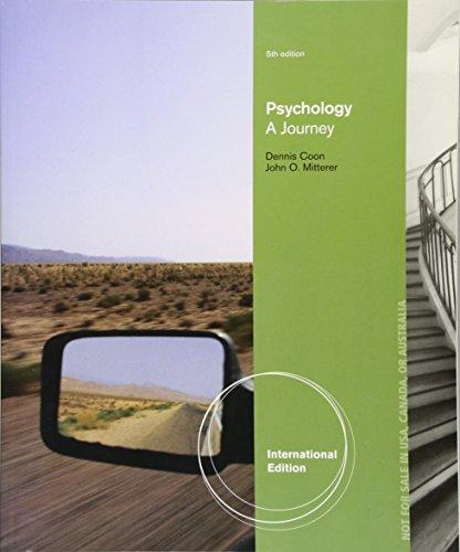 9781285055961: Psychology: A Journey