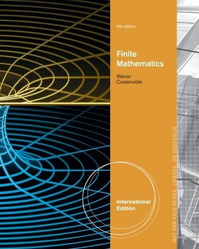 9781285056272: Finite Mathematics, International Edition