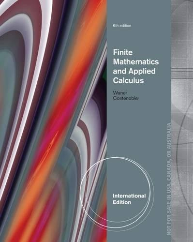 9781285056357: Finite Math and Applied Calculus