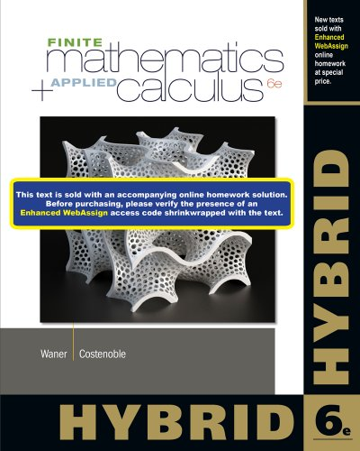 Finite Math and Applied Calculus, Hybrid: Costenoble, Steven,Waner, Stefan