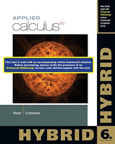 9781285056401: Applied Calculus, Hybrid