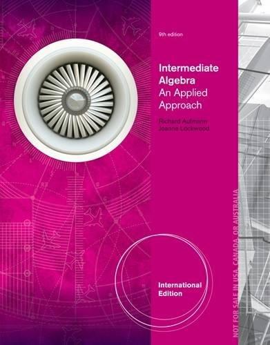 9781285057156: Intermediate Algebra: An Applied Approach