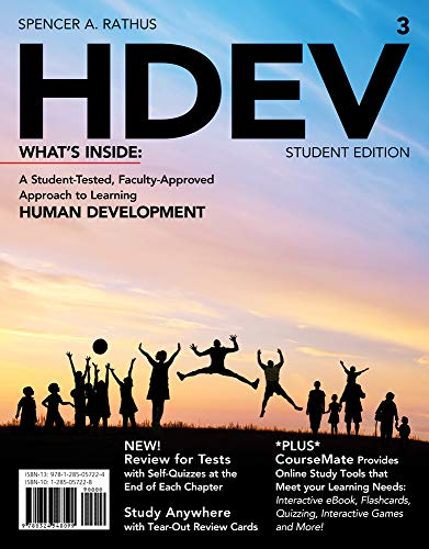 9781285057224: HDEV 3 (with CourseMate Printed Access Card) (New, Engaging Titles from 4LTR Press)