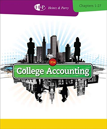 Study Guide with Working Papers, Chapters 1-9 for Heintz/Parry's College Accounting: ...
