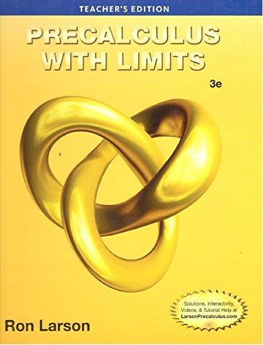 9781285059433: Precalculus with Limits 3rd Edition Teachers Edition