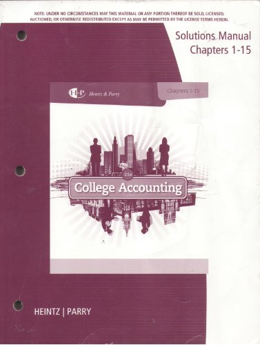 9781285059457: SM Coll Accounting Chapt 1 15