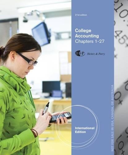 9781285059556: College Accounting, Chapters 1-27, International Edition