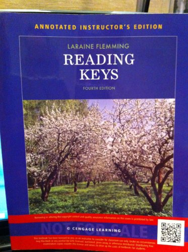 9781285059891: Reading Keys Fourth Edition, Instructor's Edition