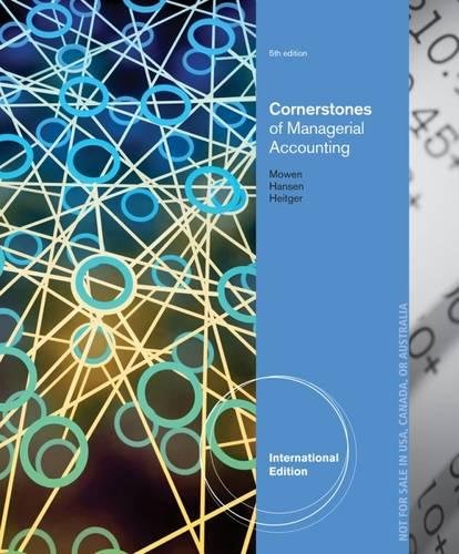 9781285059952: Cornerstones of Managerial Accounting