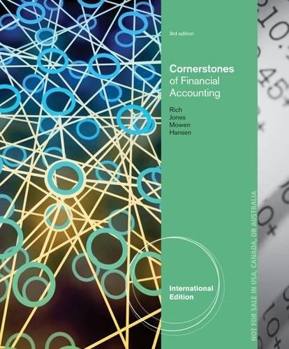 9781285060682: Cornerstones of Financial Accounting, International Edition (with 10K Report)